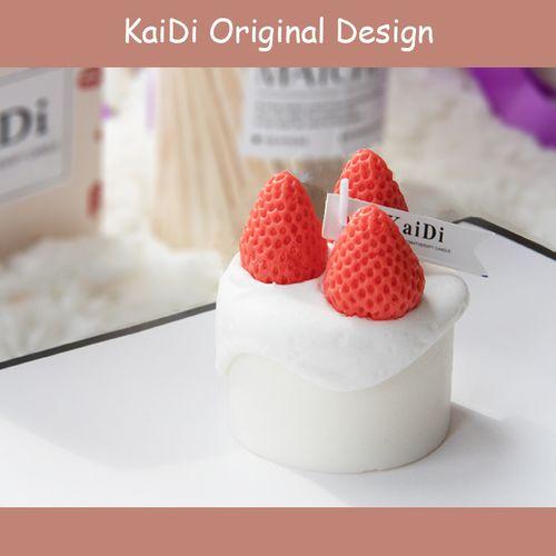 倾城》手工ins风草莓小蛋糕香薰蜡烛调情好看女生日礼物浪漫卧室
