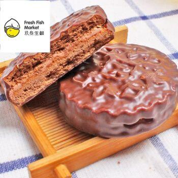 俄罗斯进口康吉三明治饼干500g夹心巧克力派年货早餐糕点零食品 花生