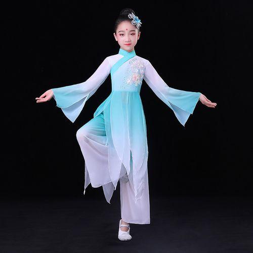 恒源祥六一儿童节2021新款六一儿童古典舞蹈演出服装表演服飘逸中国风