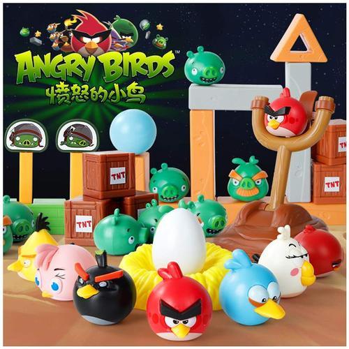 愤怒的小鸟玩具正版套装积木拼搭儿童弹弓男女孩弹射