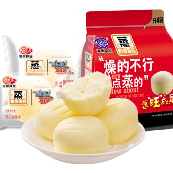 港荣蒸蛋糕 奶香味325g网红零食早餐小面包吃的休闲