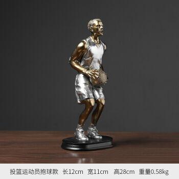 运动雕塑人物摆件 简约创意篮球运动雕塑人物摆件现代