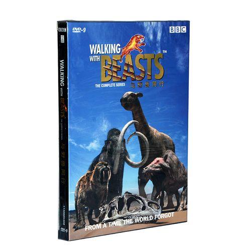 正版碟片 bbc高清记录片光盘 与野兽同行 2dvd9 中英