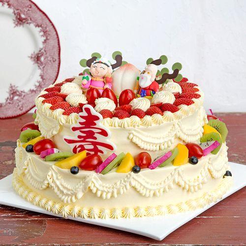 双层寿比南山蛋糕-6磅398元(达州)