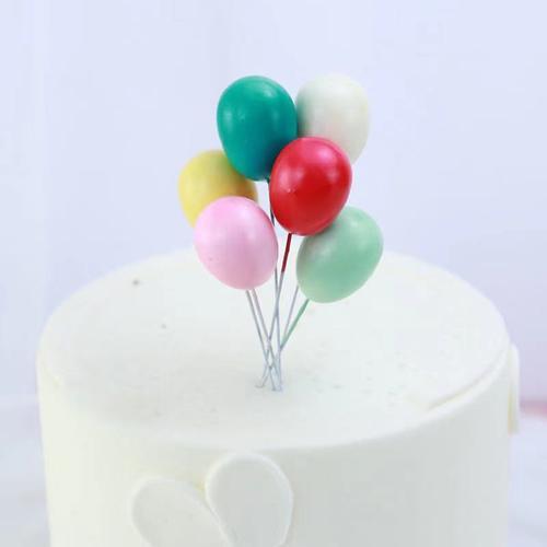 生日蛋糕装饰插牌彩色糖果球小气球球球金球插件儿童