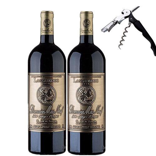 法国原装进口曼斯新堡干红葡萄酒朗格多克aop级西拉歌