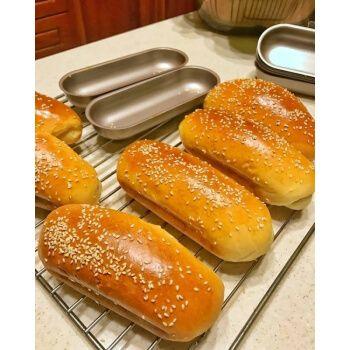 美式芝麻热狗面包胚装新鲜早餐包休闲鲜食200g 全麦10