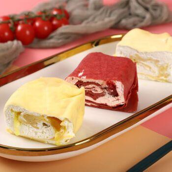千层西式蛋糕慕斯奶油甜品下午茶甜点糕点零食 提拉米苏+抹茶+蓝莓