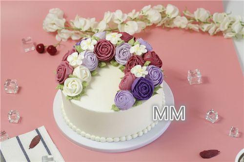 仿真翻糖立体花朵蛋糕模型仿真食物模型翻糖蛋糕模型材料装饰定制