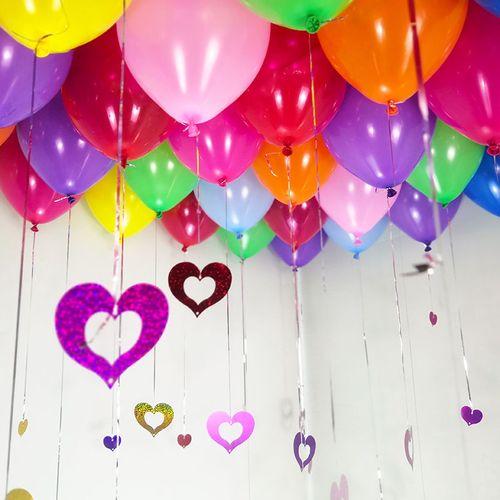 气球批发结婚用品大全装饰套装婚房间布置儿童生日网红婚礼婚庆 加厚