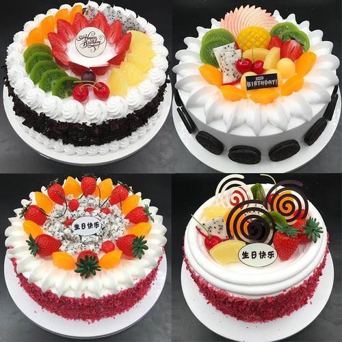 祝寿个性仿真小西点蛋糕模型玫瑰花蛋糕迷你样品奶油