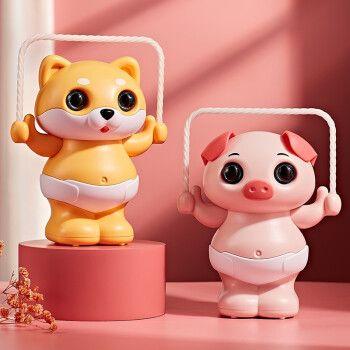 会跳绳小猪小狗拍手感应会唱歌翻斗宝宝爬行玩具男孩女孩生日新年礼物