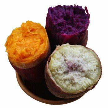 京道 新鲜紫心红薯冰淇淋一点红板栗红薯番薯 现挖紫薯花心粉糯香甜