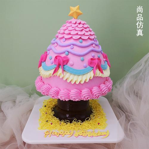 定制特型蛋糕模型2021新款发财树造型网红塑胶假蛋糕