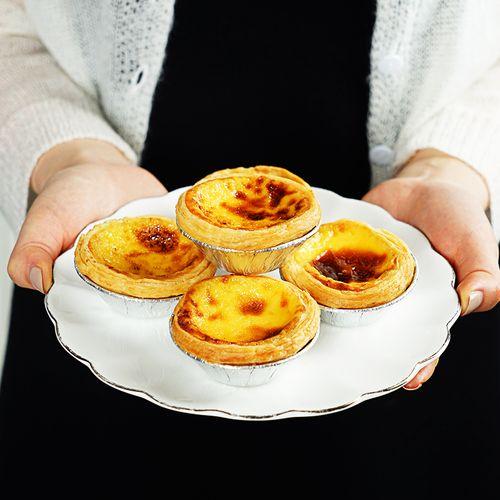 大希地葡式蛋挞皮蛋挞液套餐家庭装带锡底用半成品烘焙原料 大号7cm挞