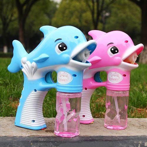 儿童玩具抖音同款吹泡泡海豚泡泡机玩具音乐灯光电动