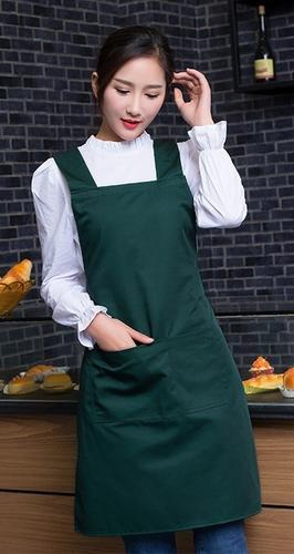 无袖咖啡店厨房工作围裙大码