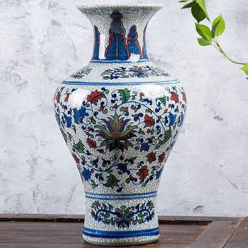 景德镇陶瓷花瓶新款中号瓷器青花瓷五彩陶瓷花瓶家居