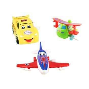 翻斗旋转玩具飞机动物模型 小型飞机直升机上链发条小