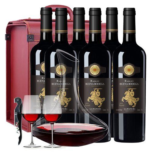 葡萄酒红酒买一箱大瓶送一箱小瓶西班牙原瓶进口整箱西拉干红正品