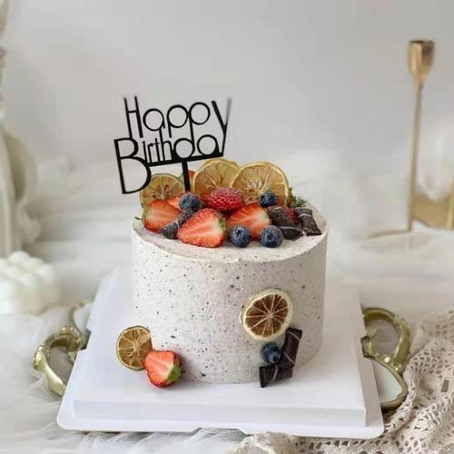 烘焙蛋糕装饰小清新烘干柠檬片摆件罐装柠檬茶生日