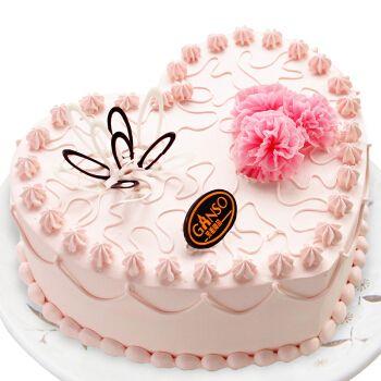 元祖 ganso 七夕节礼物 奶油水果鲜奶蛋糕 生日蛋糕同城配送 甜蜜