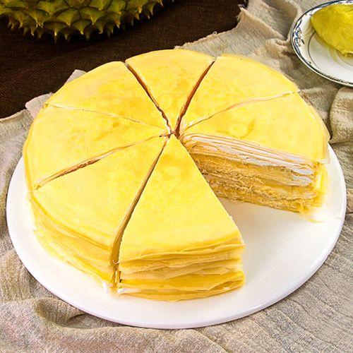 【现做现发】泰好吃榴莲千层蛋糕480g生日奶油糕点网