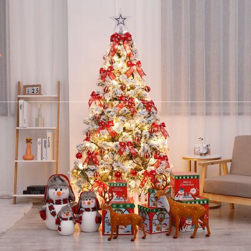 圣诞树套餐1.5米1.8米2.1米2.4米3米白色雪花家用加密