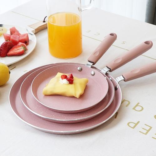 家用粉色不粘锅烘焙专用蛋糕皮锅烘焙模具牛排煎锅多