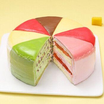 芙瑞多 八拼千层蛋糕 600g 生日蛋糕 下午茶聚会 闺蜜