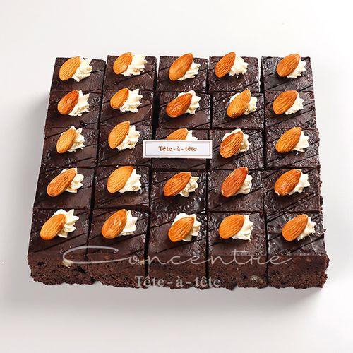 巧克力布朗尼蛋糕奶油糕点下午茶上海市生日蛋糕切块