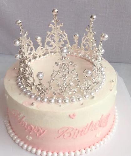 广州子墨仿真蛋糕模型 新款女王公主皇冠生日蛋糕橱窗