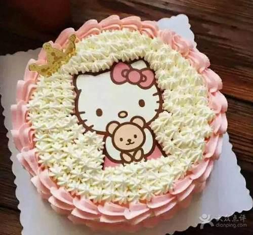 定制 hello kitty kt猫可食用 数码蛋糕 糯米 糖纸相片图代打印