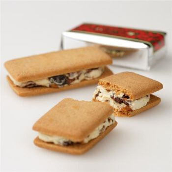 aaronhouse 日本北海道六花亭 白巧克力葡萄干朗姆酒饼干5枚入 5枚入
