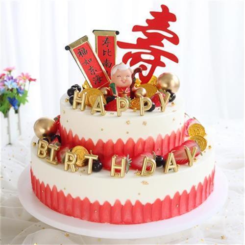 蛋糕模型2020爆款网红流行祝寿水果生日m假蛋糕道具
