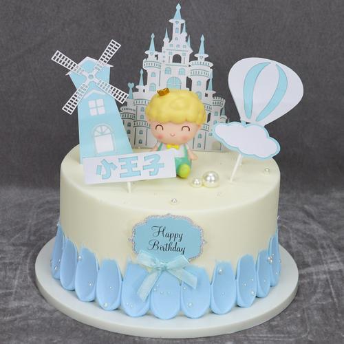 城堡蛋糕模型仿真2021新款网红卡通儿童生日蛋糕样品