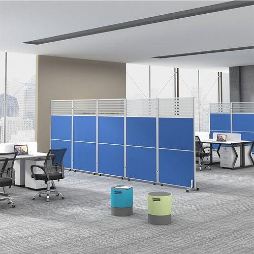 奈高屏风办公室移动屏风隔断带轮推拉工厂车间可定制