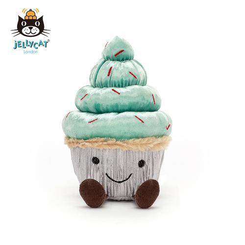 【jellycat旗舰店】2020圣诞款  薄荷可爱纸杯蛋糕