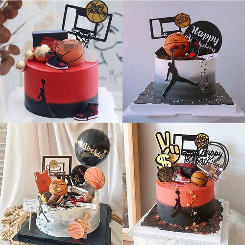 篮球烘焙蛋糕装饰篮球摆件球鞋钥匙扣装扮男生篮球运动主题摆件