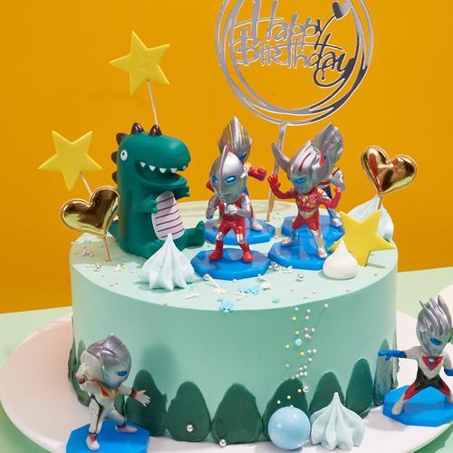 奥特曼小怪兽-儿童蛋糕