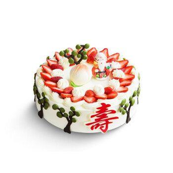 幸福西饼寿比南山祝寿蛋糕爸爸妈妈长辈生日礼物新鲜水果奶油慕斯蛋糕