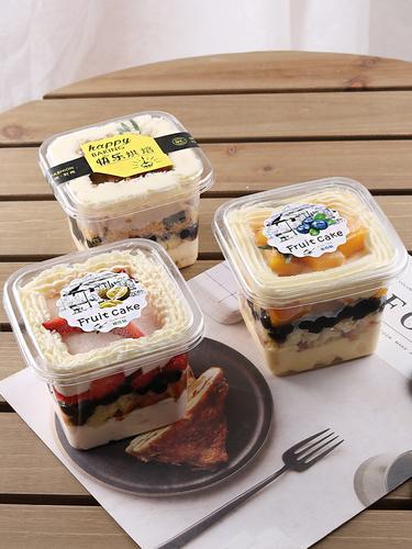 方形果冻慕斯杯豆乳木糠冰淇淋千层蛋糕酸奶提拉米苏水果蛋糕盒