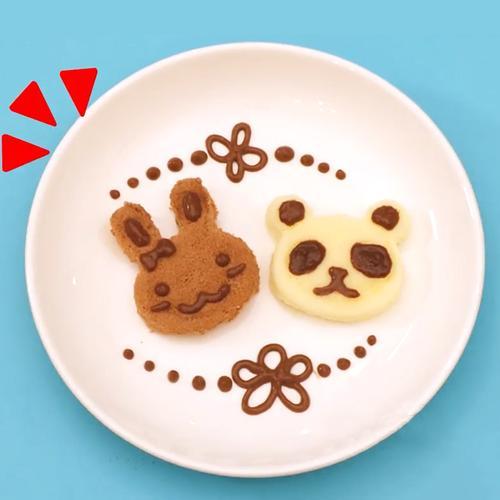 日本嘉娜宝兔子小熊蛋糕食玩儿童可食玩具小玲伶曰本