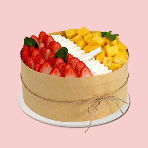 2020仿真生日蛋糕模型网红新款流行创意欧式水果奶油