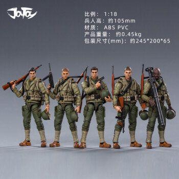 玩具美军士兵人仔成品成人苏联士兵苏军军官1/18 二战美国陆军5人1:18
