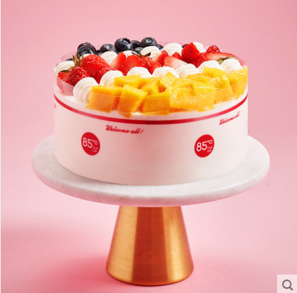 85度c 芒果莓莓生日礼物 新鲜水果慕斯蛋糕无锡蛋糕
