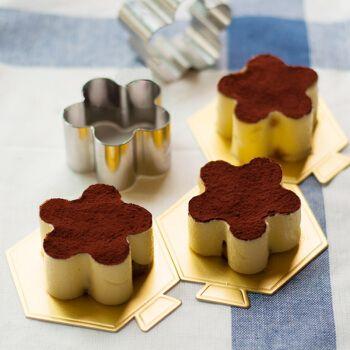 优质3寸不锈钢迷你蛋糕模具慕斯圈提拉米苏模饼干模 花形1个