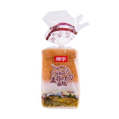 桃李麦芬吐司土司面包 400g/袋零食糕点点心美食小吃