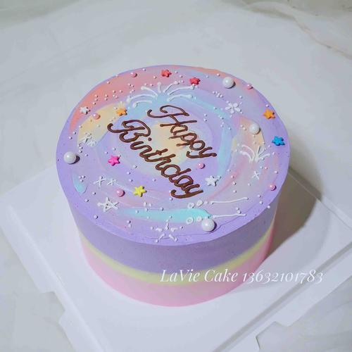 梦幻紫蛋糕(图片为6寸效果)