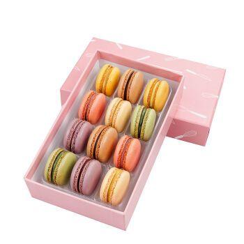 法式马卡龙甜点240g/50g网红手工西式生日蛋糕点休闲零食节日礼盒 12
